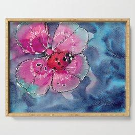 Lucky Ladybug Serving Tray