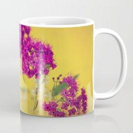 Magenta Tiny Floral Arrangement - Meera Mary Thomas Design Coffee Mug