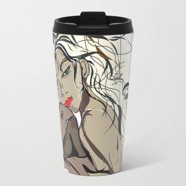 """My Beau"" Paulette Lust's Original, Contemporary, Whimsical, Colorful Art  Travel Mug"