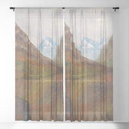 Arran, Scottish landscape by Lu Sheer Curtain