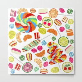 Rainbow candies Metal Print