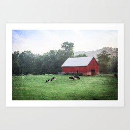 Red Barn Landscape Photography Art Print