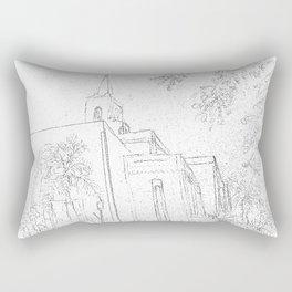 San Salvador El Salvador LDS Temple Sketch Rectangular Pillow