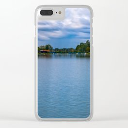 Sailing boats harbor Clear iPhone Case