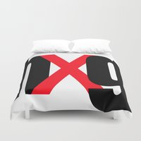 hug Duvet Covers featuring hUg by Hallelu Yar