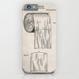 Toilet Paper Patent - Bathroom Art - Antique iPhone Case