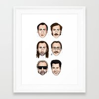 cage Framed Art Prints featuring Cage by Matthew Brazier Illustration
