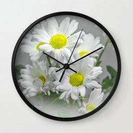 Chrysanthemums Wall Clock
