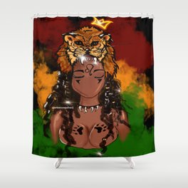 Lioness Rising Shower Curtain