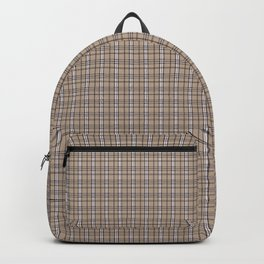EXCLUSIVELY SERESHKI COLLECTION GREY BEIGE PLAID Backpack
