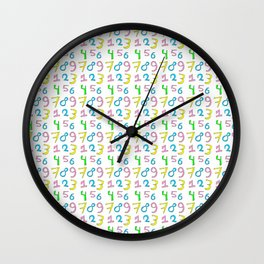 number 1- count,math,arithmetic,calculation,digit,numerical,child,school Wall Clock