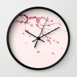 Oriental cherry blossom in spring 002 Wall Clock