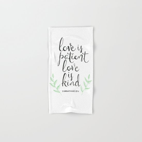 Love Is Patient, Love Is Kind Hand & Bath Towel