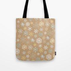 snow flakes pattern Tote Bag