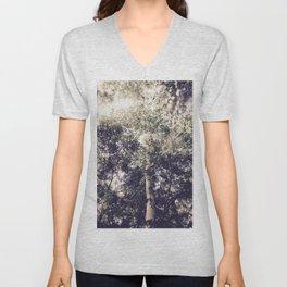 Dappled Light Filtered Through Trees Unisex V-Neck