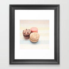 Macaron Pastel Color Framed Art Print