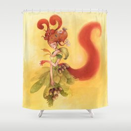 Fée Ecureuils Shower Curtain