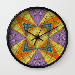 golden dragon on black Wall Clock