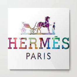 Herme paris Logo galaxy Metal Print