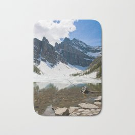 Lake Agnes, Banff, Canada with snow Bath Mat