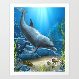 The World Of The Dolphin Art Print