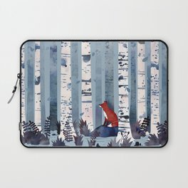 The Birches (in Blue) Laptop Sleeve