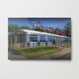 Historic Rosie's Diner by Rockford Michigan Metal Print