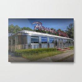 Historic Rosie's Diner by Rockford Michigan Metal Print