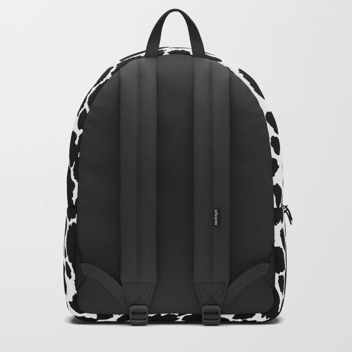ANIMAL PRINT CHEETAH #5 BLACK AND WHITE PATTERN Backpack