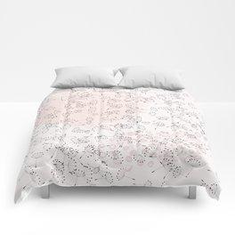 Dandelion field. Abstract pattern Comforters