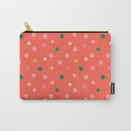Polka Polka Dots in Tomato Red Carry-All Pouch