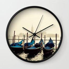 Gondolas in Color Wall Clock