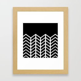 BLACK LACE CHEVRON Framed Art Print