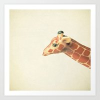 giraffe Art Prints featuring Giraffe by Cassia Beck