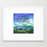 courage Framed Art Prints featuring Courage by siminiblocker
