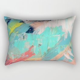 What a rush - a bright mixed media piece Rectangular Pillow
