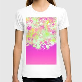 paint splatter on gradient pattern pgoi T-shirt