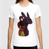 hiccup T-shirts featuring Hiccup and Toothless by tsunami-sand
