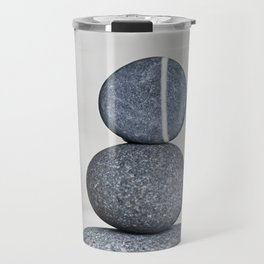 Zen cairn pebble stone balance grey Travel Mug