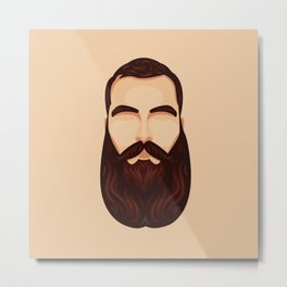 Majestic Beard Metal Print