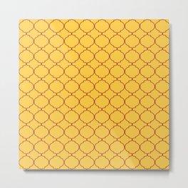 Modern Ethnic Style (Maroon & Light Orange Pattern) Metal Print
