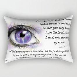Galaxy eye - Isaiah 45, 3 Rectangular Pillow