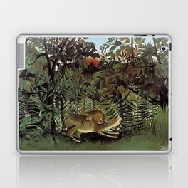 THE HUNGRY LION ATTACKING AN ANTELOPE - ROUSSEAU Laptop & iPad Skin