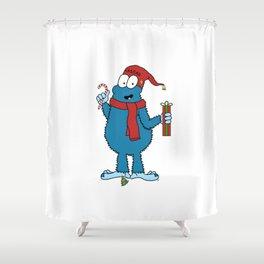 Season's Greetings Shower Curtain