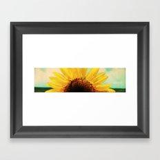 The Energy of Sunflower Framed Art Print