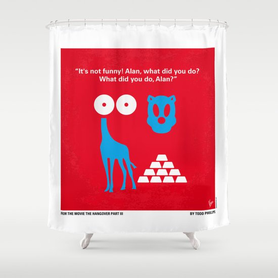 No145 My THE HANGOVER PART 3 minimal movie poster Shower Curtain