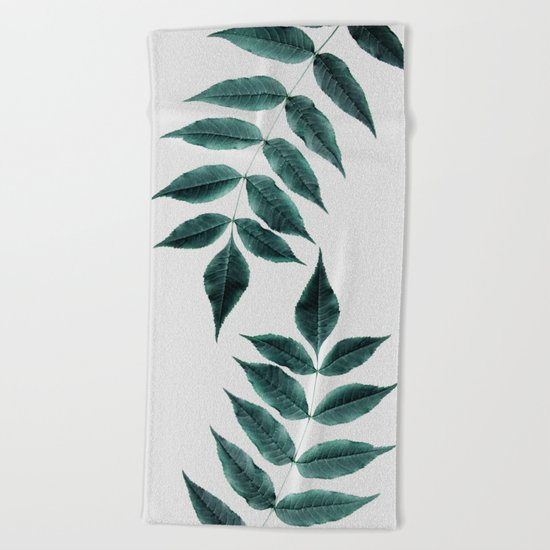 Leaves 3A Beach Towel