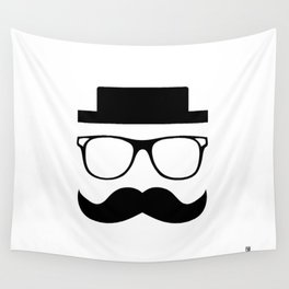 Hipster Mustache Wall Tapestry