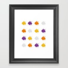 Colorful Mistakes Framed Art Print