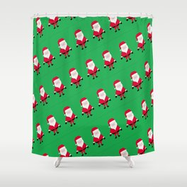Jolly Santa Pattern Shower Curtain